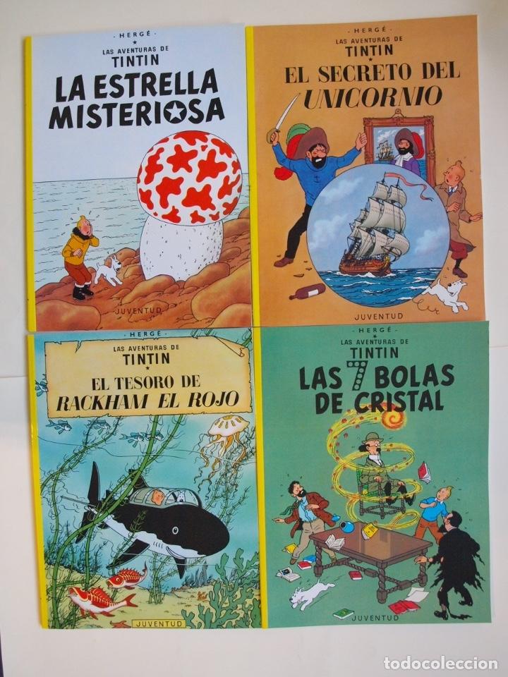 Cómics: COLECCIÓN COMPLETA DE TINTIN - 23 ÁLBUMES EN RÚSTICA (TAPA BLANDA) - EDITORIAL JUVENTUD - Foto 4 - 182380467