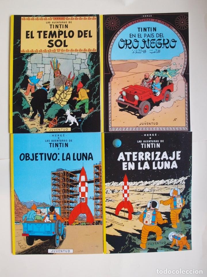 Cómics: COLECCIÓN COMPLETA DE TINTIN - 23 ÁLBUMES EN RÚSTICA (TAPA BLANDA) - EDITORIAL JUVENTUD - Foto 5 - 182380467
