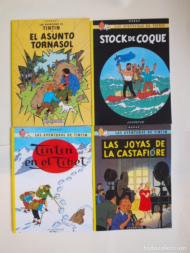 Cómics: COLECCIÓN COMPLETA DE TINTIN - 23 ÁLBUMES EN RÚSTICA (TAPA BLANDA) - EDITORIAL JUVENTUD - Foto 6 - 182380467
