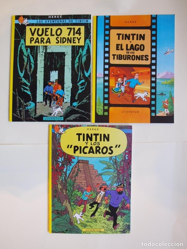 Cómics: COLECCIÓN COMPLETA DE TINTIN - 23 ÁLBUMES EN RÚSTICA (TAPA BLANDA) - EDITORIAL JUVENTUD - Foto 7 - 182380467