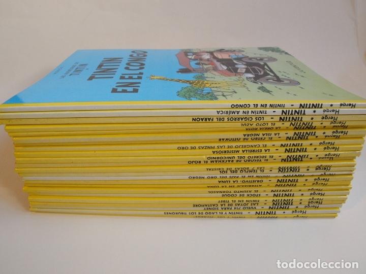 Cómics: COLECCIÓN COMPLETA DE TINTIN - 23 ÁLBUMES EN RÚSTICA (TAPA BLANDA) - EDITORIAL JUVENTUD - Foto 8 - 182380467