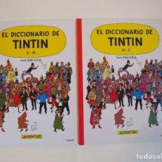 Cómics: LOS 2 ÁLBUMES DEL DICCIONARIO DE TINTÍN - A-M/N-Z - TONI COSTA - TAPA BLANDA - JUVENTUD 2ª ED. 1992. Lote 182387102