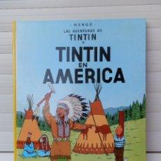 Cómics: LAS AVENTURAS DE TINTIN. TINTIN EN AMERICA. EDITORIAL JUVENTUD. UNDÉCIMA EDICIÓN 1989. Lote 182529646