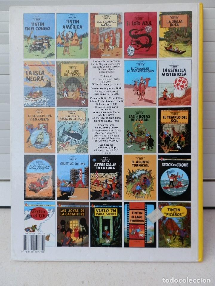 Cómics: LAS AVENTURAS DE TINTIN. LOS CIGARROS DEL FARAON. EDITORIAL JUVENTUD. DUODÉCIMA EDICIÓN 1989 - Foto 3 - 182529960