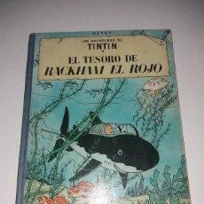 Cómics: TINTIN. EL TESORO DE RACKHAM EL ROJO. 2ª EDICION JUVENTUD 1964. LOMO DE TELA AZUL. HERGE.. Lote 182530085