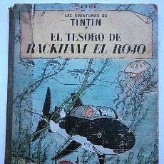 Cómics: TINTÍN EL TESORO DE RACKHAM EL ROJO 2ª EDICIÓN. AÑO 1964 EDITORIAL JUVENTUD. Lote 182565100