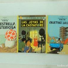Cómics: LAS AVENTURAS DE TINTIN-LA ESTRELLA MISTERIOSA-LAS JOYAS DE LA CASTAFIORE-OBJETO LA LUNA -JUVENTUD. Lote 182587140