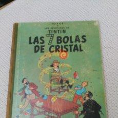 Cómics: TINTÍN LAS 7 BOLAS DE CRISTAL 1967 LOMO DE TELA 2ª EDICIÓN. Lote 182612142