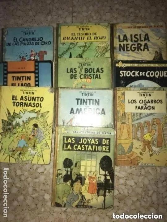 LOTE ANTIGUOS CÓMIC TEBEO TINTÍN PRIMERAS SEGUNDAS EDICIONES JUVENTUD (Tebeos y Comics - Juventud - Tintín)