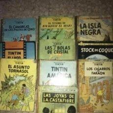 Cómics: LOTE ANTIGUOS CÓMIC TEBEO TINTÍN PRIMERAS SEGUNDAS EDICIONES JUVENTUD. Lote 182624545