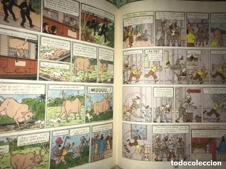 Cómics: LOTE ANTIGUOS CÓMIC TEBEO TINTÍN PRIMERAS SEGUNDAS EDICIONES JUVENTUD - Foto 8 - 182624545