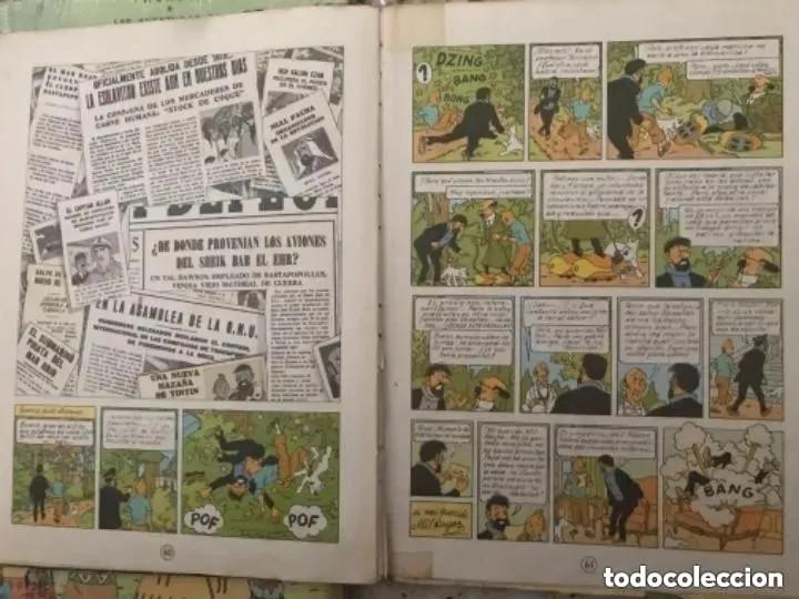 Cómics: LOTE ANTIGUOS CÓMIC TEBEO TINTÍN PRIMERAS SEGUNDAS EDICIONES JUVENTUD - Foto 36 - 182624545