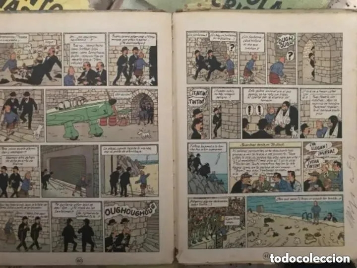Cómics: LOTE ANTIGUOS CÓMIC TEBEO TINTÍN PRIMERAS SEGUNDAS EDICIONES JUVENTUD - Foto 48 - 182624545