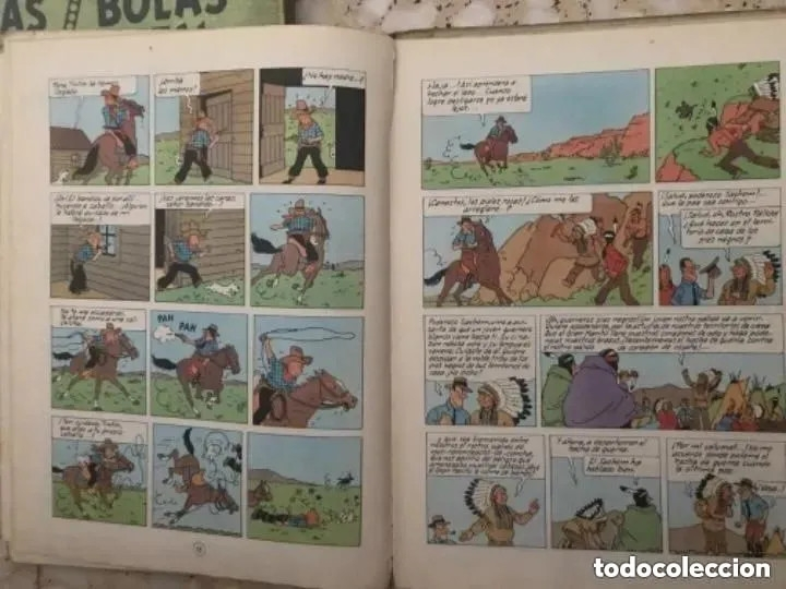 Cómics: LOTE ANTIGUOS CÓMIC TEBEO TINTÍN PRIMERAS SEGUNDAS EDICIONES JUVENTUD - Foto 62 - 182624545
