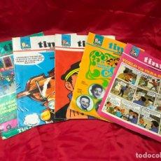 Cómics: 5 SEMANARIO TINTIN , Nº 7 AÑO I Y 3, 1967, Nº 14, 43, 53 Y 54 - AÑO II, 1968. Lote 182836655