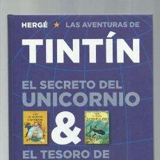 Cómics: TINTÍN: EL SECRETO DEL UNICORNIO & EL TESORO DE RACKHAM EL ROJO, 2011, JUVENTUD, IMPECABLE. Lote 183328861