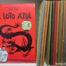 Cómics: LOTE LAS AVENTURAS TINTIN 1ª EDICIONES - 12 TOMOS - LOMO DE TELA - HERGE . Lote 183824955