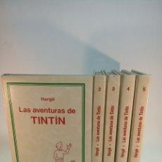 Cómics: LAS AVENTURAS DE TINTÍN. 5 TOMOS. JUVENTUD. 1987. STUDIO CREDILIBRO. Lote 183962792