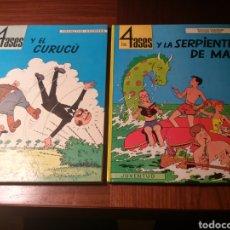 Cómics: LOTE LOS 4 ASES: Y EL CURUCÚ (OIKOS-TAU, 1ª EDICIÓN), Y LA SERPIENTE DE MAR(JUVENTUD, 1ª EDICIÓN). Lote 184139075
