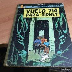 Cómics: TINTIN VUELO 714 PARA SIDNEY TAPA DURA PRIMERA EDICION 1969 (COIB43). Lote 184311592