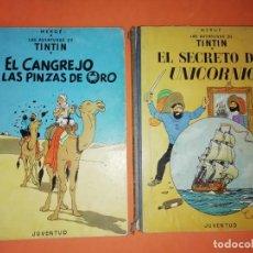 Cómics: TINTIN.EL CANGREJO DE LAS PINZAS DE ORO. 3ª EDICION 1968. EL SECRETO DEL UNICORNIO. 4 ª EDICION 1968. Lote 184361456