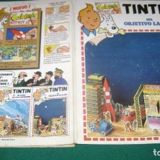 Cómics: TINTIN CALCOMIC OBJETIVO LA LUNA EL TRES ESTINTIN. Lote 184587282