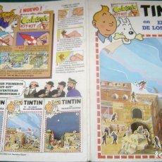 Cómics: TINTIN CALCOMIC EL LAGO DE LOS TIBURONES EL DOS ESTINTIN. Lote 184587305