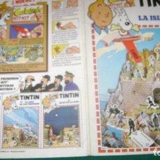 Cómics: TINTIN CALCOMIC EL UNO LA ISLA NEGRA ESTINTIN. Lote 201371111