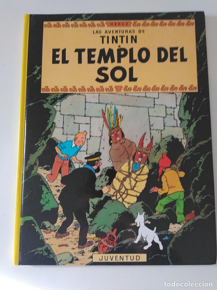 TINTÍN EL TEMPLO DEL SOL TAPA DURA EDITORIAL JUVENTUD 1990 (Tebeos y Comics - Juventud - Tintín)