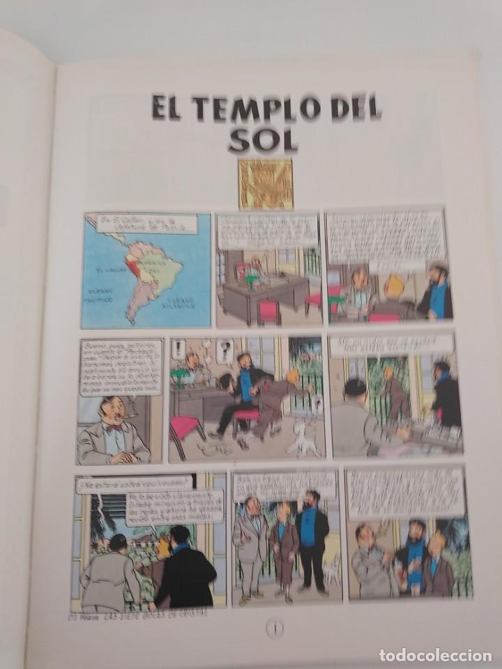 Cómics: Tintín El Templo del Sol tapa dura Editorial Juventud 1990 - Foto 5 - 184603587