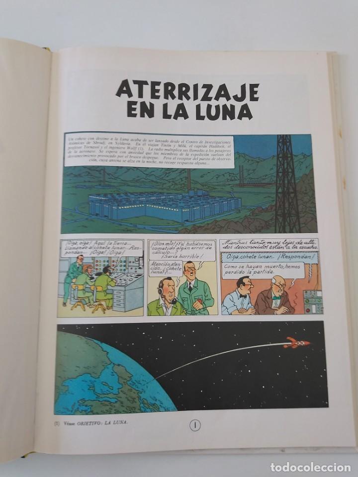 Cómics: Tintín Aterrizaje en la Luna tapa dura Editorial Juventud 1990 - Foto 5 - 184608392