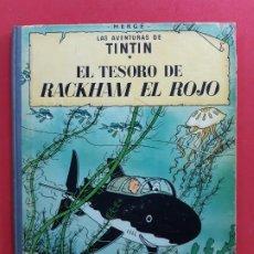 Cómics: TINTIN-EL TESORO DE RACKHAM EL ROJO-4ª EDICIÓN-1971-LOMO DE TELA. Lote 184710643