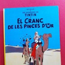 Cómics: EL CRANC DE LES PINCES D¨OR 4ª EDICION EN CATALAN. Lote 184713227