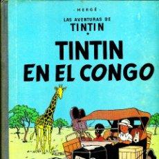Cómics: TINTIN EN EL CONGO (JUVENTUD, 1968) DE HERGÉ. 1ª EDICIÓN. Lote 184827226