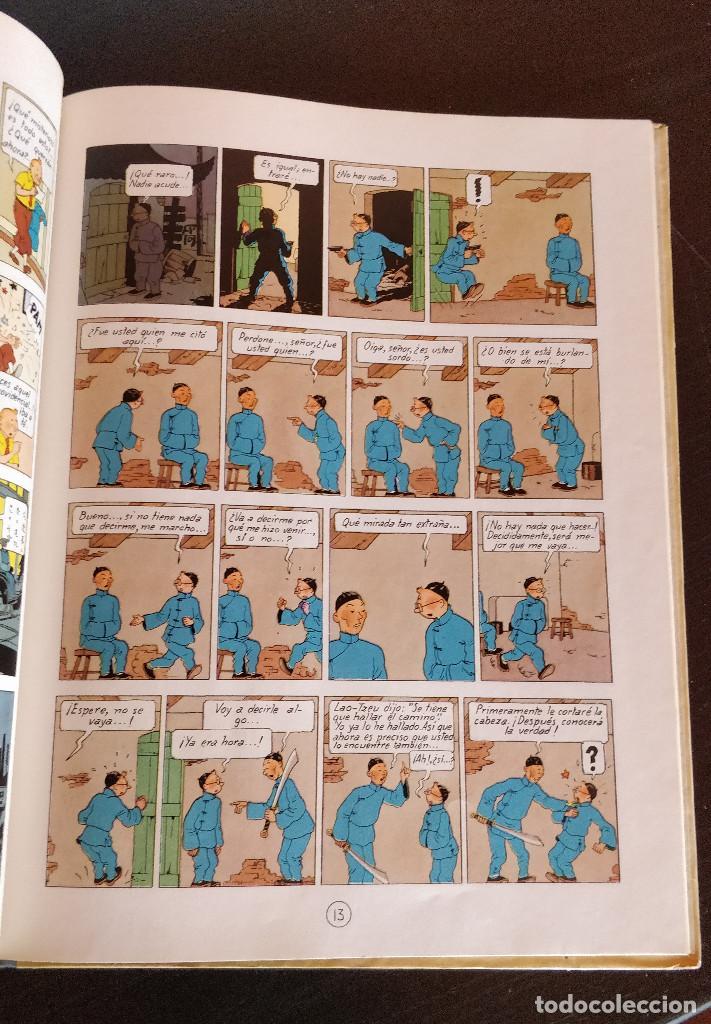 Cómics: **MUY BUEN ESTADO** PRIMERA EDICIÓN TINTIN El Loto Azul. Lomo tela azul. JUVENTUD 1965 - Foto 10 - 184856452