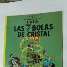 Cómics: TINTÍN LAS 7 BOLAS DE CRISTAL EDITORIAL JUVENTUD 1988 PRIMERA EDICIÓN. Lote 184888737