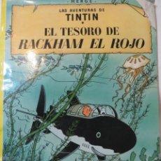 Cómics: LAS AVENTURAS DE TINTÍN. EL TESORO DE RACKHAM EL ROJO. ED. JUVENTUD. 9°EDICIÓN. Lote 184894672