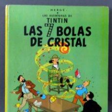 Cómics: TINTÍN LAS 7 BOLAS DE CRISTAL HERGÉ EDITORIAL JUVENTUD 1975 4ª EDICIÓN. Lote 185894601