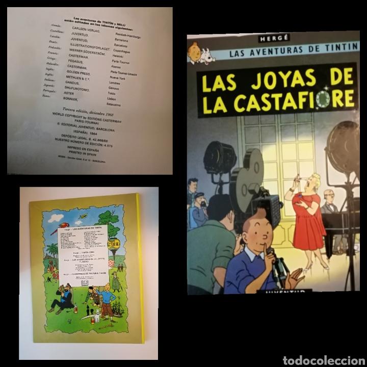 TINTÍN -LAS JOYAS DE LA CASTAFIORE. 3A EDICIÓN 1968 .NO LOMO DE TELA.RARO.MUY BUEN ESTADO.VER FOTOS. (Tebeos y Comics - Juventud - Tintín)