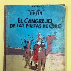 Cómics: TINTIN - EL CANGREJO DE LAS PINZAS DE ORO - EDITORIAL JUVENTUD 1ª EDICION 1963 LOMO ROJO. Lote 188745947