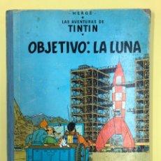 Cómics: TINTIN - OBJETIVO: LA LUNA - EDITORIAL JUVENTUD 2ª ED 1964 LOMO AZUL. Lote 188746735