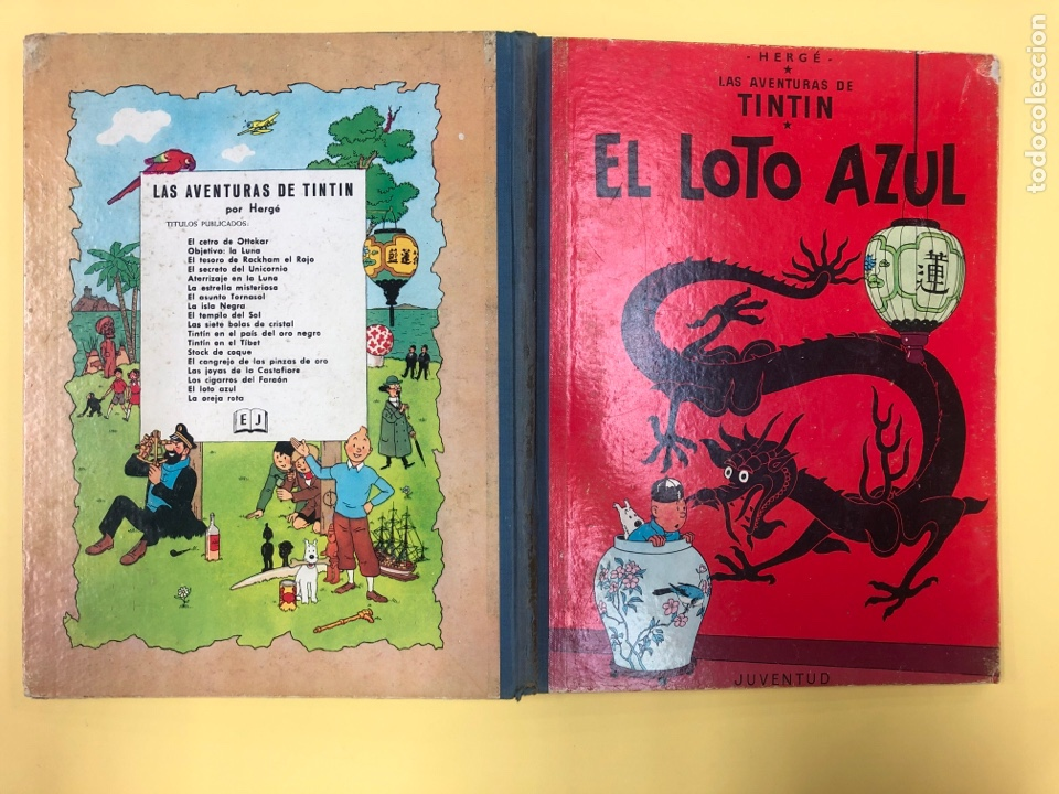 Cómics: TINTIN - EL LOTO AZUL - EDITORIAL JUVENTUD 1ª EDICION 1965 - LOMO AZUL - Foto 2 - 188747633