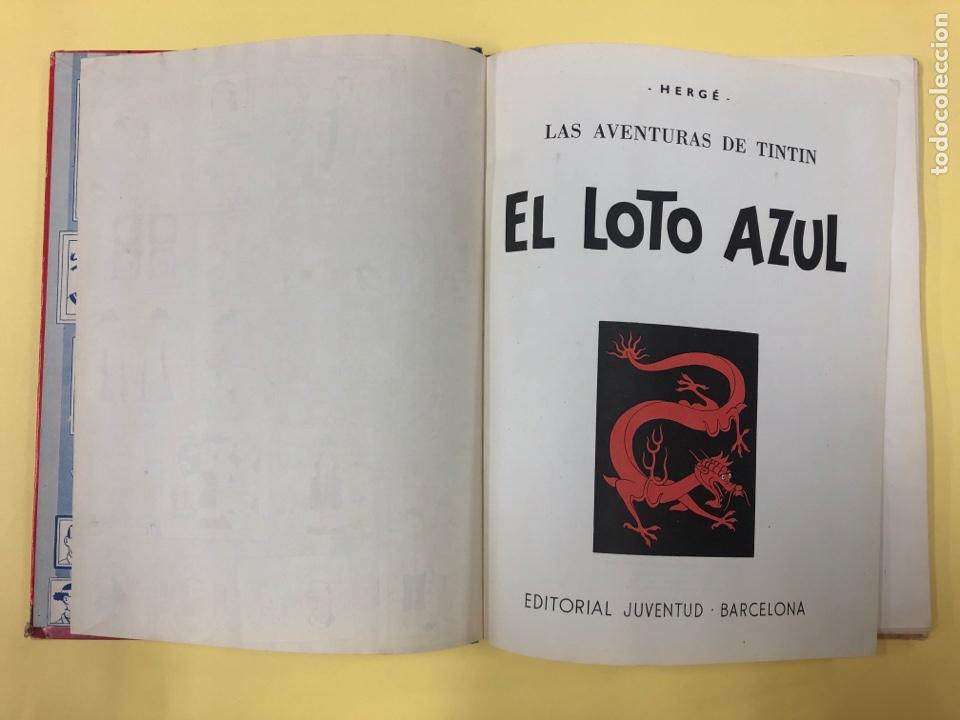 Cómics: TINTIN - EL LOTO AZUL - EDITORIAL JUVENTUD 1ª EDICION 1965 - LOMO AZUL - Foto 4 - 188747633