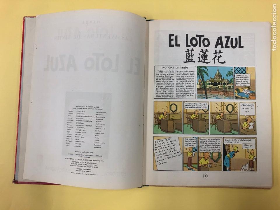 Cómics: TINTIN - EL LOTO AZUL - EDITORIAL JUVENTUD 1ª EDICION 1965 - LOMO AZUL - Foto 5 - 188747633