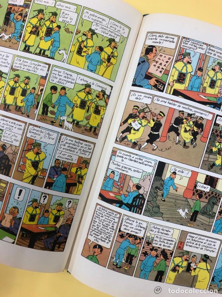 Cómics: TINTIN - EL LOTO AZUL - EDITORIAL JUVENTUD 1ª EDICION 1965 - LOMO AZUL - Foto 7 - 188747633