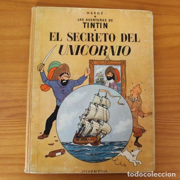 TINTIN EL SECRETO DEL UNICORNIO, HERGE. JUVENTUD 1959 PRIMERA EDICION TAPA DURA 1ª (Tebeos y Comics - Juventud - Tintín)