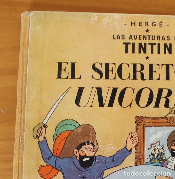 Cómics: TINTIN EL SECRETO DEL UNICORNIO, HERGE. JUVENTUD 1959 PRIMERA EDICION TAPA DURA 1ª - Foto 2 - 189284361