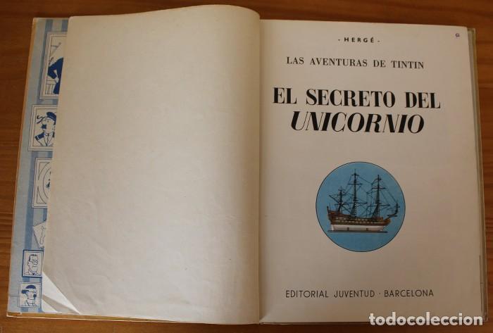 Cómics: TINTIN EL SECRETO DEL UNICORNIO, HERGE. JUVENTUD 1959 PRIMERA EDICION TAPA DURA 1ª - Foto 10 - 189284361
