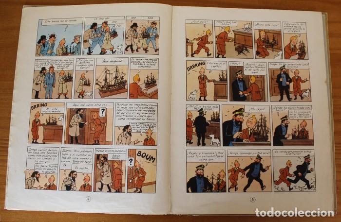 Cómics: TINTIN EL SECRETO DEL UNICORNIO, HERGE. JUVENTUD 1959 PRIMERA EDICION TAPA DURA 1ª - Foto 13 - 189284361