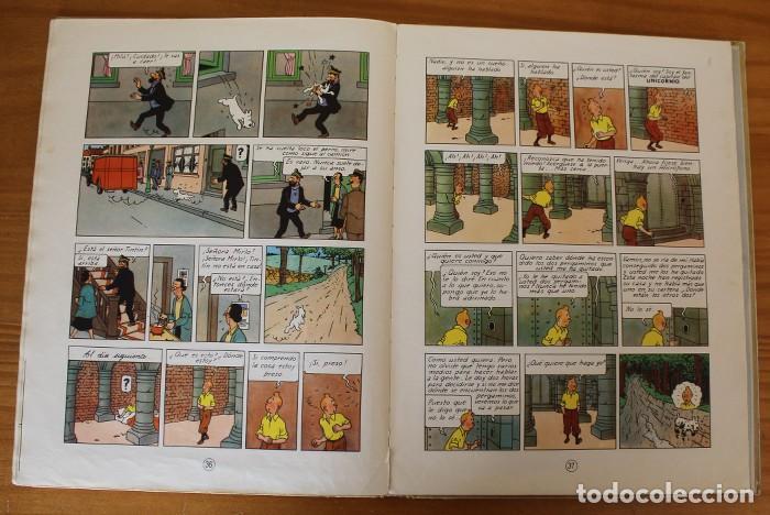 Cómics: TINTIN EL SECRETO DEL UNICORNIO, HERGE. JUVENTUD 1959 PRIMERA EDICION TAPA DURA 1ª - Foto 15 - 189284361